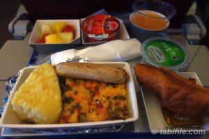 早朝の機内食