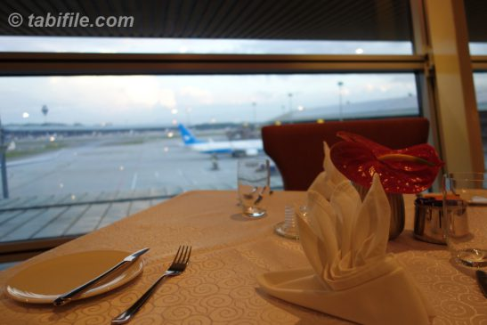 KLIA Platinum Dining room