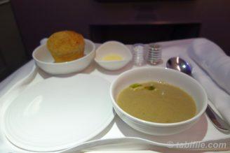 空でスープ
