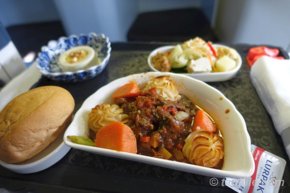 KLM KL809 meal