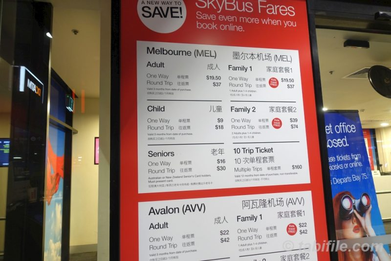 MELBOURNE CITY EXPRESS FARE